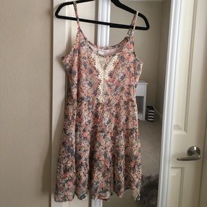 3/$25 American Rag floral front lace dress size S